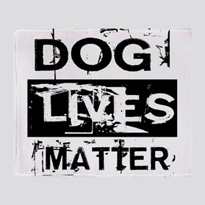Dog Lives Matter Throw Blanket