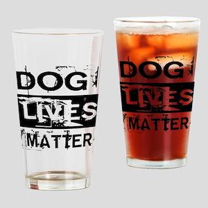 Dog Lives Matter Drinking Glass