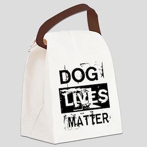 Dog Lives Matter Canvas Lunch Bag