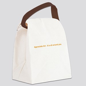 arty Canvas Lunch Bag