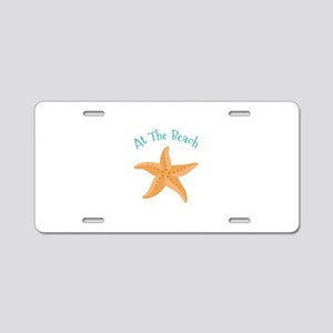At The Beach Aluminum License Plate