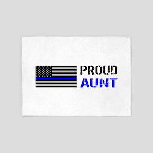 Police: Proud Aunt 5'x7'Area Rug