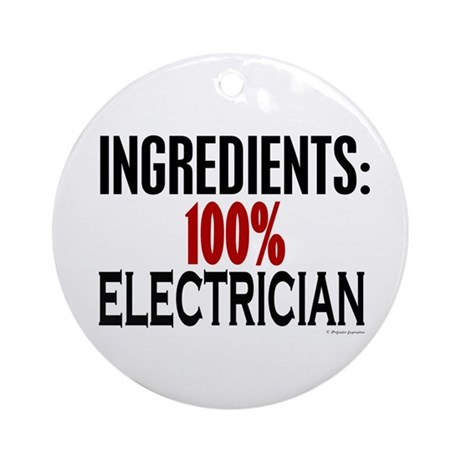 Ingredients: Electrician Ornament (Round)
