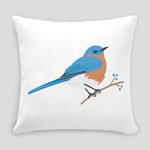 Eastern Bluebird Everyday Pillow