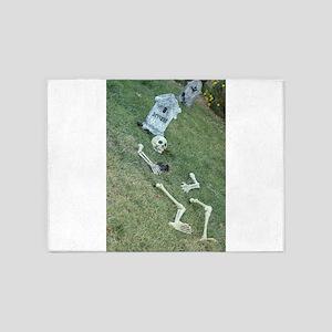Halloween skeleton 5'x7'Area Rug