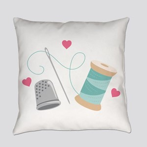 Heart Sewing supplies Everyday Pillow