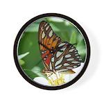Gulf Fritillary Butterfly Wall Clock