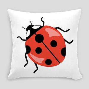 Red Ladybug Everyday Pillow