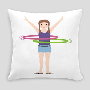 Hula Hooping Everyday Pillow