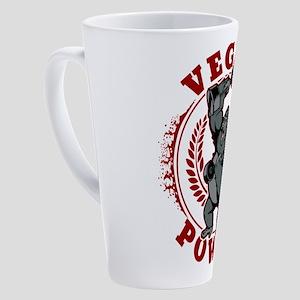 Vegan Power Bodybuilder Gorilla 17 oz Latte Mug