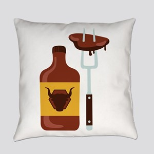 Barbeque Sauce Meat Everyday Pillow