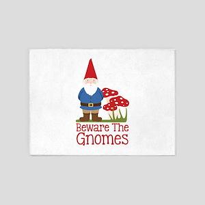 Beware the Gnome 5'x7'Area Rug