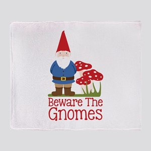 Beware the Gnome Throw Blanket
