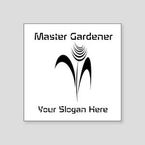 "Custom Master Gardener Square Sticker 3"" x 3"""