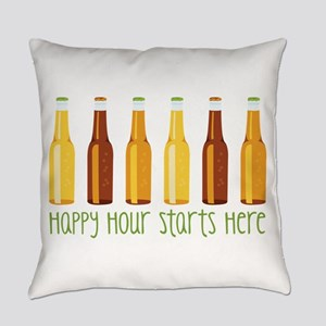 Happy Hour Starts Here Everyday Pillow