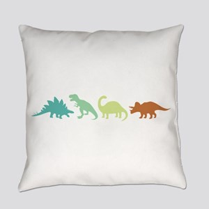 Prehistoric Medley Border Everyday Pillow