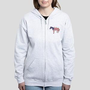 Horse - American Flag Sweatshirt