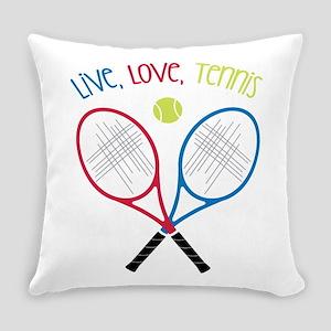 Live, Love, Tennis Everyday Pillow