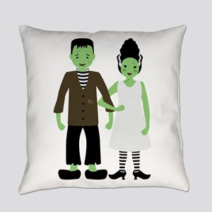 Frankenstein Bride Everyday Pillow