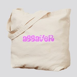 Assayer Pink Flower Design Tote Bag