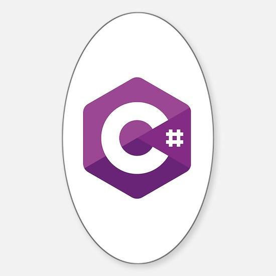 Unique Coder Sticker (Oval)