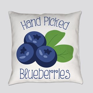 Hand Picked Blueberries Everyday Pillow
