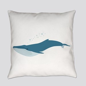 Blue Whale Everyday Pillow