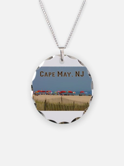 Cape May, NJ Beach Scene Necklace