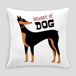 Beware Of Dog Everyday Pillow