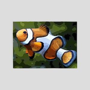 ClownFish20151011 5'x7'Area Rug
