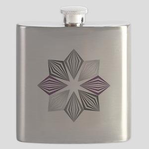 Asexual Pride Starburst Flask