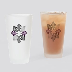Asexual Pride Starburst Drinking Glass