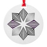 Asexual Pride Starburst Ornament