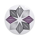 Asexual Pride Starburst Round Ornament