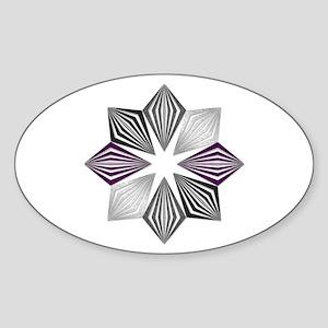 Asexual Pride Starburst Sticker
