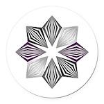 Asexual Pride Starburst Round Car Magnet