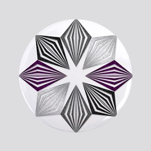 Asexual Pride Starburst Button