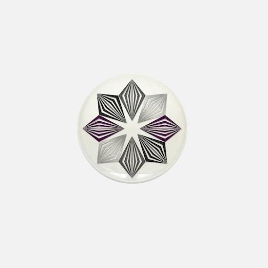 Asexual Pride Starburst Mini Button