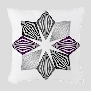 Asexual Pride Starburst Woven Throw Pillow