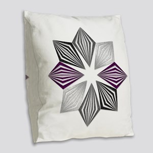Asexual Pride Starburst Burlap Throw Pillow
