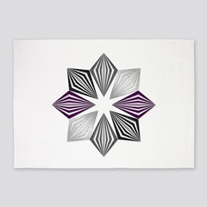 Asexual Pride Starburst 5'x7'Area Rug
