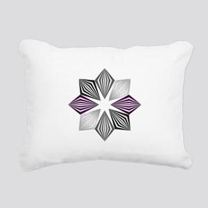 Asexual Pride Starburst Rectangular Canvas Pillow