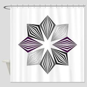 Asexual Pride Starburst Shower Curtain
