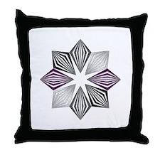 Asexual Pride Starburst Throw Pillow