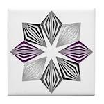 Asexual Pride Starburst Tile Coaster