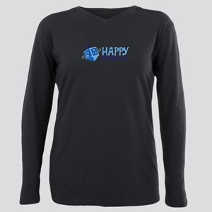 HAPPY HANUKKAH! Plus Size Long Sleeve Tee