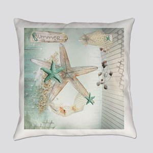 Summer Sea Treasures Beach Everyday Pillow