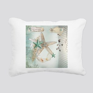 Summer Sea Treasures Bea Rectangular Canvas Pillow