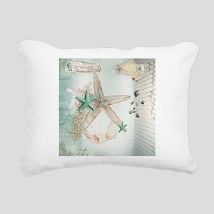 Summer Sea Treasures Bea Rectangular Canvas Pillow