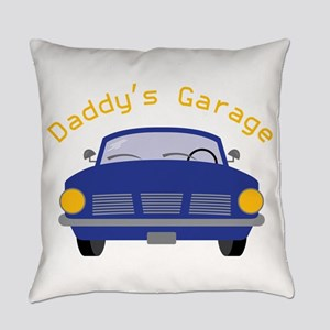 Daddy's Garage Everyday Pillow